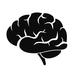 Brain power icon simple style vector