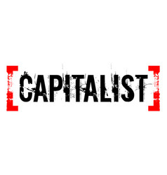 Capitalist sticker stamp vector