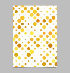 Color dot pattern flyer design - cover background vector