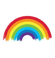 Colorful rainbow arc vector