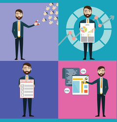 concept businessman with task multitasking vector image