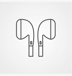 earphone icon sign symbol vector image