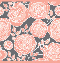 elegant concept rose flowers seamless pattern vector image