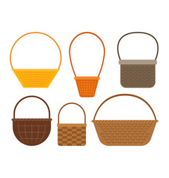 empty picnic basket set vector image