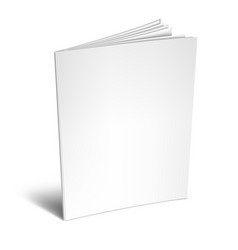 Empty white book or magazine vector