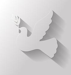Flat dove vector