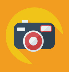 Flat modern design with shadow camera icon vector