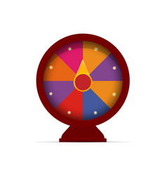Fortune wheel game logo casino slot machine vector