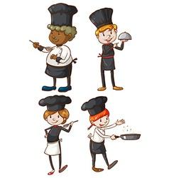 Four excellent chefs vector