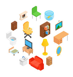 furniture for living room isometric vector image