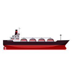 Gas tanker lng carrier natural gas carrier ship vector