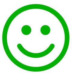 Glad smiley flat icon vector