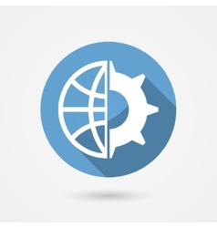Global technology icon vector