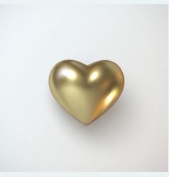 golden realistic heart vector image