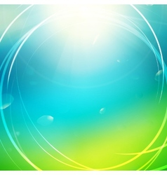 Green abstract sunny background vector image