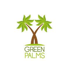 green palms symbol vector image
