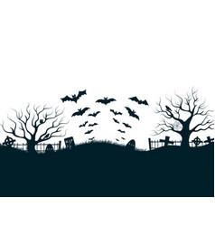 Halloween night background poster vector