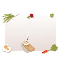Hand drawn abstract modern cartoon cooking vector