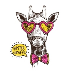 Hipster Animal Poster vector image