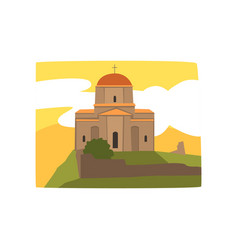 Holy trinity cathedral of tbilisi georgian vector