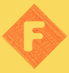Letter f sign design template element red vector