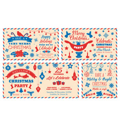 letter for santa christmas holidays mail vector image