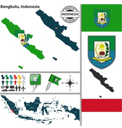 Map of Bengkulu vector image