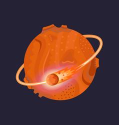 Mars icon on dark background vector