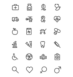 Medical Line Icons 1 vector