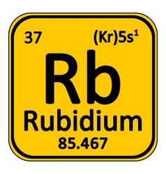 Periodic table element rybidium icon vector
