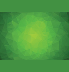 polygonal green background vector image