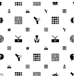 Problem icons pattern seamless white background vector