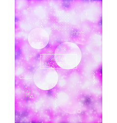 Purple cover with liquid neon shapes luminous vector