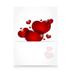 romantic letter with cute hearts vector image