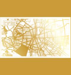 san luis potosi mexico city map in retro style vector image