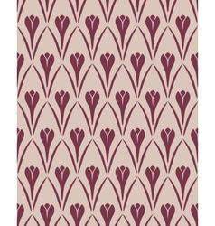 Seamless floral pattern Crocus vintage background vector