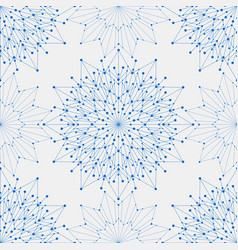 Seamless geometric pattern with connected lines vector