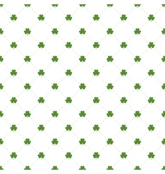 Seamless pattern with clovers leaves and stripes vector image