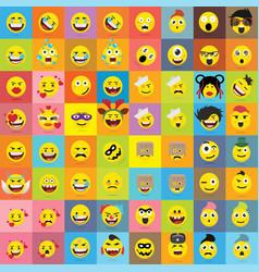 set emoticons set emoji isolated vector image