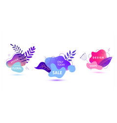 Set summer spring sale banner template vector