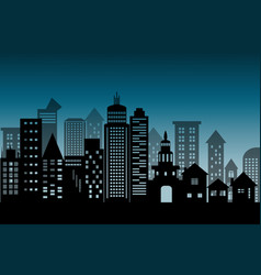 silhouette cityscape architectural building vector image