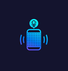 smart speaker voice assistant icon vector image