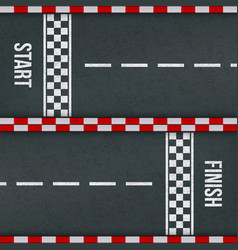 Start finish racing rally track marking vector