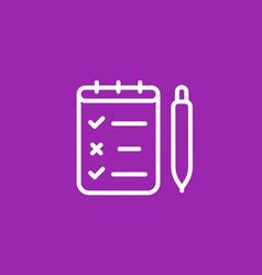Survey quiz icon in linear style vector