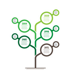 Timeline or infographics development and growth vector