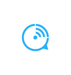 wifi chat logo icon design vector image