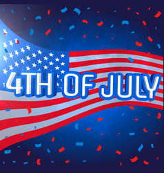 4th of july celebration background with confetti vector image vector image