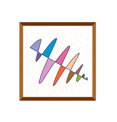 Abstract painting drawing vector image