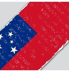 Samoan grunge flag vector image vector image
