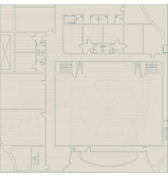 Architectural technical background vector image